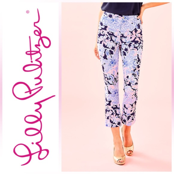 NWT Lilly Pulitzer Kelly High Rise Crop Flare Pant
